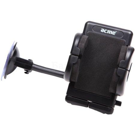 """ACME MH02 для смартфонов, крепление на стекло Черный, 4"""" Черный, 4"""""""