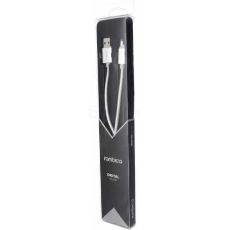 Rombica Digital Silver USB-Apple Lightning 1м, Lightning, USB, Серебристый