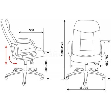 Кресло руководителя Бюрократ CH-848AXSN черный кожа