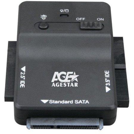 """Адаптер-переходник для HDD 2.5""""/3.5"""" AgeStar 3FBCP1 черный"""