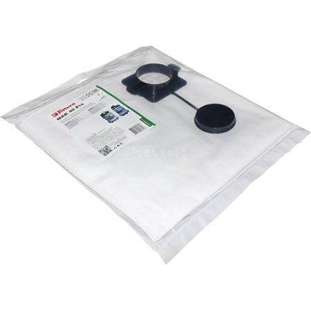 Пылесборники Filtero MAK 40 (5) Pro для: MAKITA/RUPES Совместимость: MAKITA 440, 445 X, 449, VC 3510; RUPES AS 50 M, KS 250, KS 260 EP, KS 935 E, S 230