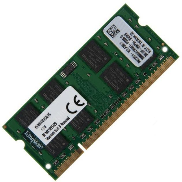Kingston KVR800D2S6 DDR2, 2, PC2-6400, 800