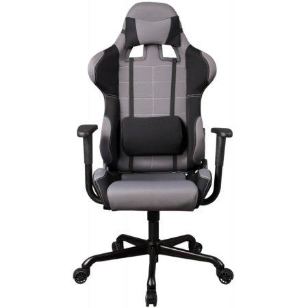 Кресло руководителя Бюрократ 771/Grey+bl серый ткань крестовина металлическая Серый