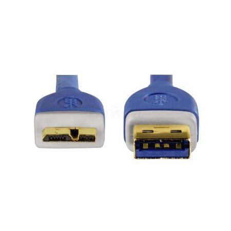 Hama H-39682 1.8м, USB-A, Микро-USB, Синий