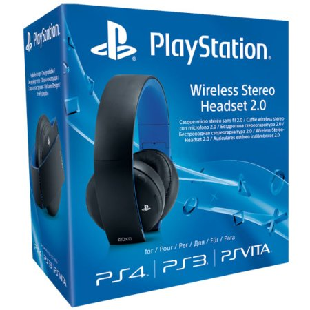 PS4: Гарнитура беспроводная черная для PS4 с поддержкой PS3 и PS Vita Wireless Stereo O2 Headset Black: CECHYA-0083: SCEE Черный