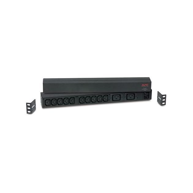 APC by Schneider Electric APC Rack PDU, Basic, 1U, 16A, 208/230V, (10)C13 & (2)C19 out; C20 in