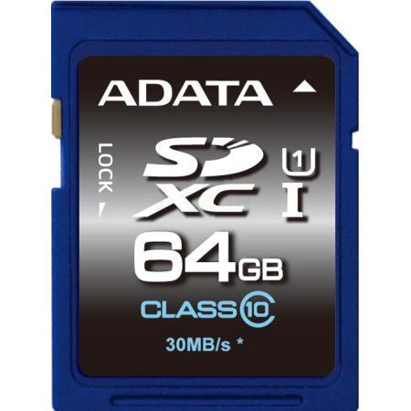 A-Data Premier ASDX64GUICL10-R SDXC, 64Гб, Class 10