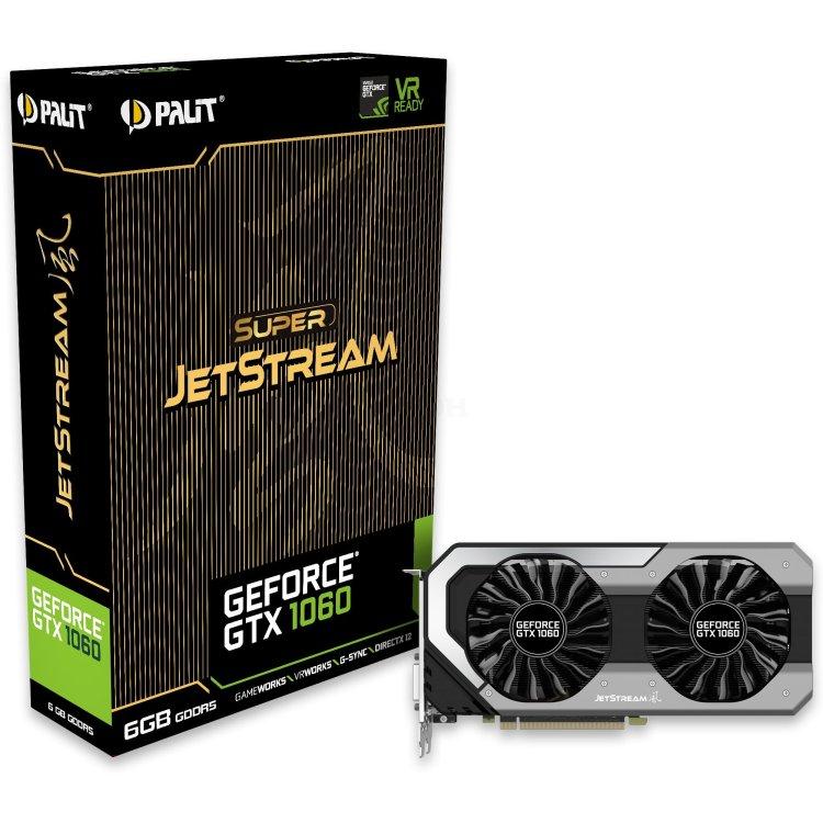 Palit GeForce GTX 1060 SUPER JETSTREAM 6144M, GDDR5, 1620MHz, PCI-Ex16 3.0