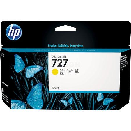 HP 727 Желтый, Картридж струйный, Стандартная, нет