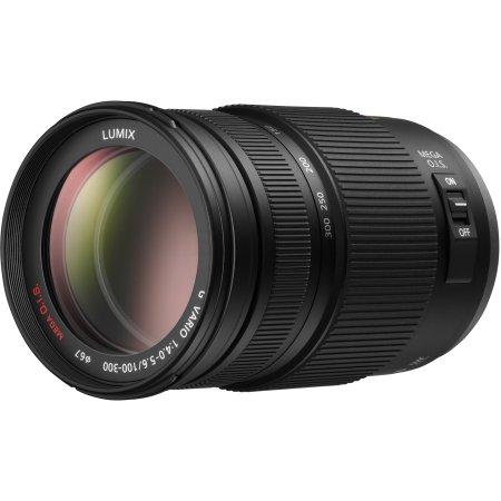 Panasonic 100-300mm f/4-5.6 Aspherical O.I.S. H-FS100300E Телеобъектив, Micro 4/3, Совместимость с полнокадровыми фотоаппаратами Телеобъектив, Micro 4/3, Совместимость с полнокадровыми фотоаппаратами