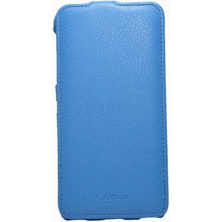 Armor-X flip full для Apple iPhone 6 Plus Черный, кожзам Синий
