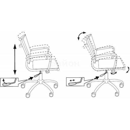 Кресло руководителя Бюрократ CH-993-LOW/M01 низкая спинка черный M01 сетка крестовина хром