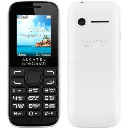 Alcatel One Touch 1052D Белый/черный, 2 SIM