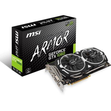 MSI NVIDIA GeForce GTX 1060 ARMOR 6G GTX 1060 ARMOR - 6144Мб, GDDR5, 1708MHz