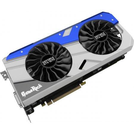 Palit GeForce GTX 10 Series GTX 1070 GameRock - 8192Мб, GDDR5, 1556MHz, PCI-Ex16 3.0