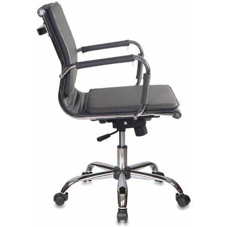 Кресло руководителя Бюрократ CH-993-Low/grey низкая спинка серый искусственная кожа крестовина хромированная