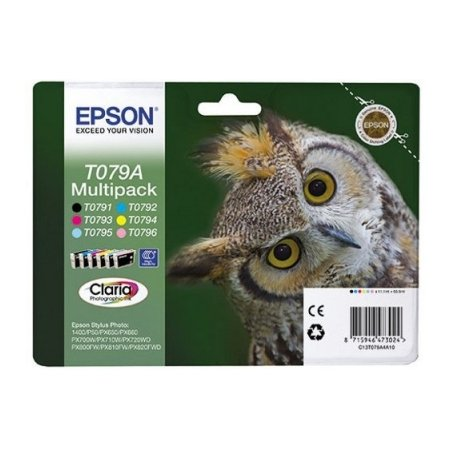 Epson T079А Картридж струйный, Не указан, Светло-голубой, Черный, Желтый, Голубой, Пурпурный, Повышенная