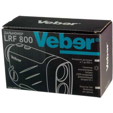 Veber 6x25 LRF800 Военный, Черный, 6x, Монокуляр