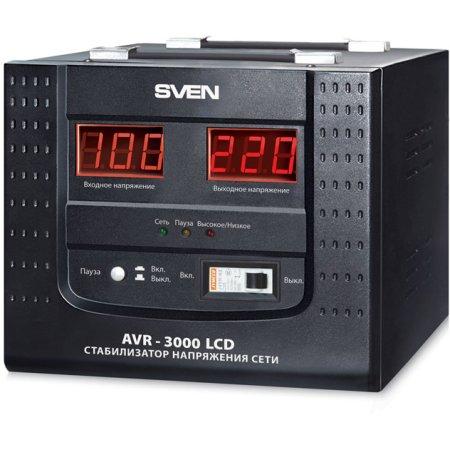 Sven AVR-3000 LCD ! однофазный, 3000ВА, поврежденная упаковка