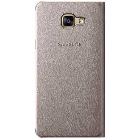 Samsung Flip Wallet для Samsung Galaxy J7 2016 чехол-книжка, кожзам, Золотой