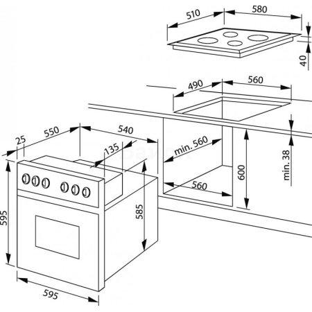 Hansa BCCI 64596015 комплект серебристый/серебристый