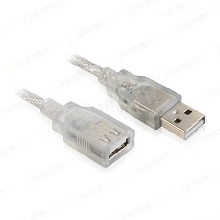 Greenconnect USB 2.0 AM / AF, Premium 3м, USB-A, Прозрачный