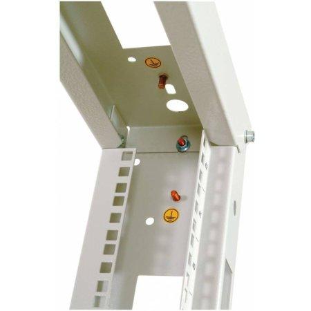 Стойка двухрамная ЦМО СТК-24.2 24U 620ммX800мм направл.закл.гайки 250кг серый