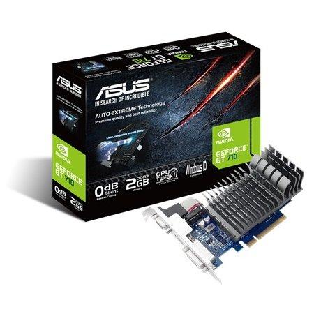 Asus NVIDIA GeForce GT 710 SILENT 2048Мб, GDDR3, 954MHz /GT710-2-SL/ GT 710 SILENT - 2048Мб, GDDR3, 954MHz /GT710-2-SL/