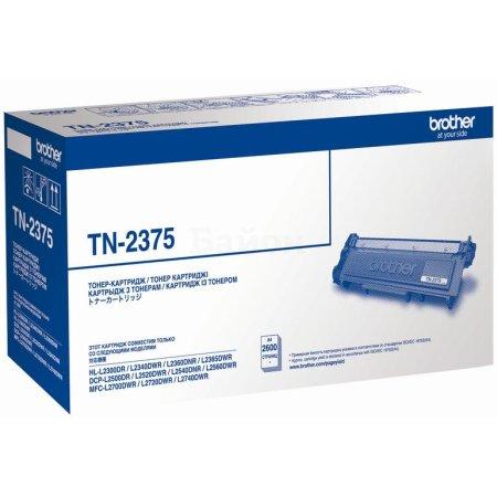 Brother TN-2375 Черный, Картридж лазерный, Тонер-картридж, Стандартная, нет