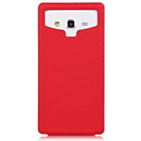 """Partner Flip-case универсальный 5,8"""" вертикальный флип, полиуретан, Красный"""