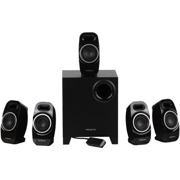 Creative A550 Черный, 5.1, RCA, Пластик