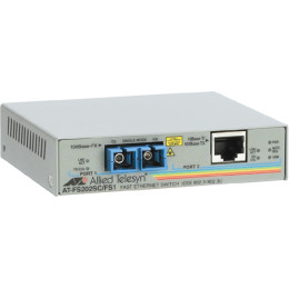 Allied Telesis 10/100TX (RJ-45) to 100FX (SC) 2 port unmanaged switch