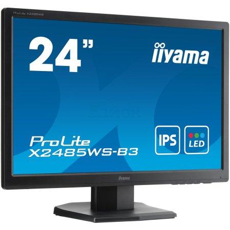 "Iiyama XB2485WS-B3 24.1"", Черный, DVI, Full HD 24.1"", Черный, DVI, Full HD"