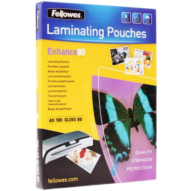 Пленка для ламинирования Fellowes 80мкм A5 (100шт) глянцевая 154x216мм CRC-53060 (FS-53060)