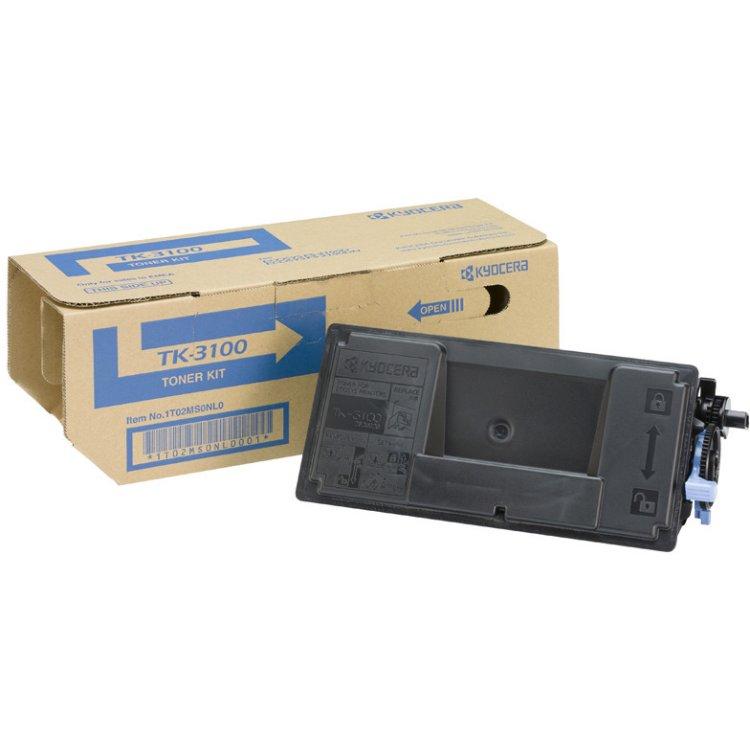Kyocera TK-3100 Черный, Тонер-картридж, Стандартная, нет