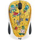Logitech Wireless Mouse M238 Doodle Collection Bae-Bee Blue Золотисто-коричневый
