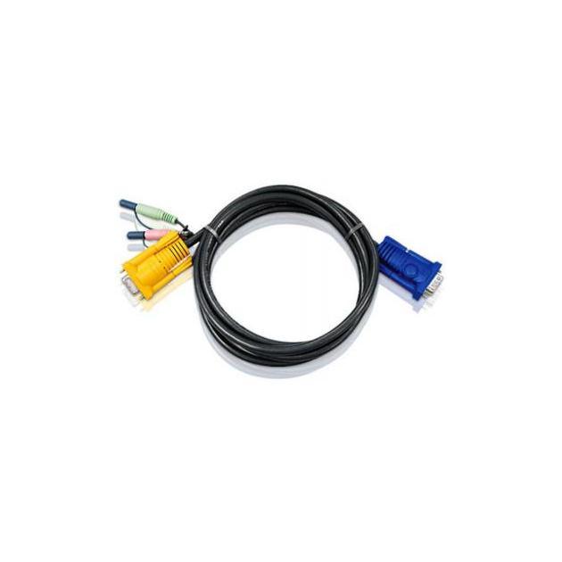ATEN CABLE SP15F -- HD15M/AUDIO/AUD; 3M*2L-5203A