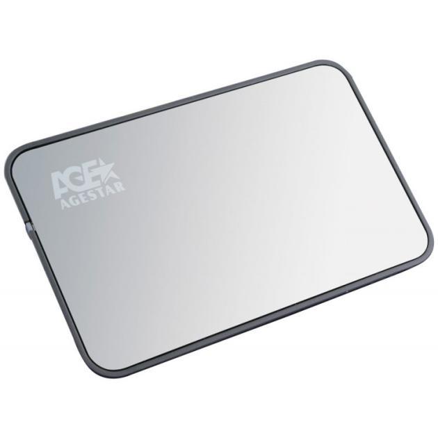 "Внешний корпус для HDD AgeStar 3UB2A8 SATA II пластик/алюминий серебристый 2.5"""