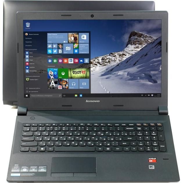 "Lenovo B50-45 15.6"", AMD A6, 1800МГц, 4Гб RAM, DVD нет, 1Тб, Черный, Wi-Fi, Windows 10, Bluetooth"