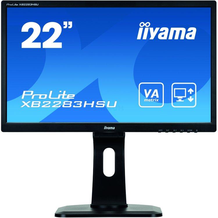 "Iiyama ProLite XB2283HSU-B1DP 21.5"", VA, 1920x1080, Full HD, DVI, Встроенные колонки"