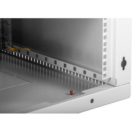 ЦМО Шкаф телекоммуникационный настенный разборный 9U (600х650) дверь стекло, [ ШРН-Э-9.650 ]