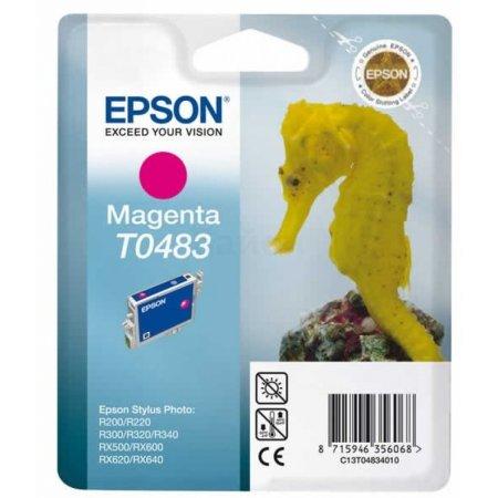 Epson T0483 Пурпурный, Картридж струйный, Стандартная, нет