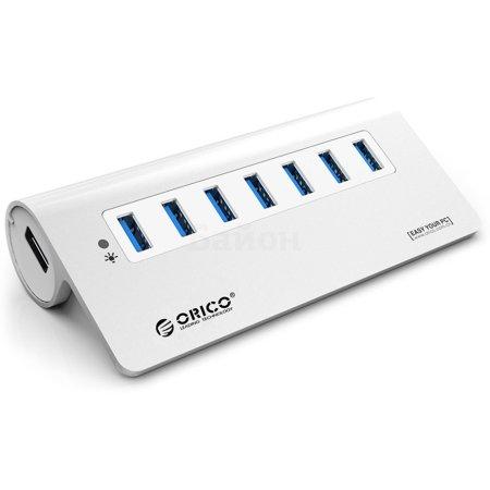 USB хаб Orico M3H7 Silver