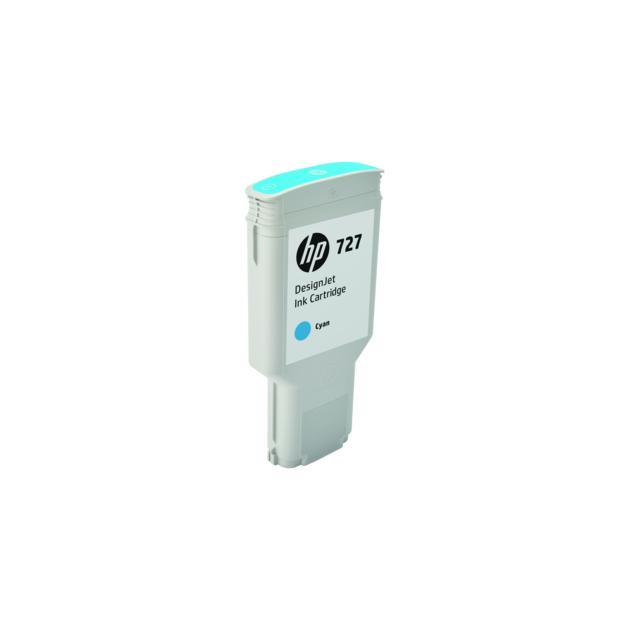 HP Inc. Cartridge HP 727 для НР DJ T920/T1500/2500/930/1530/2530 300-ml Cyan Ink Cart