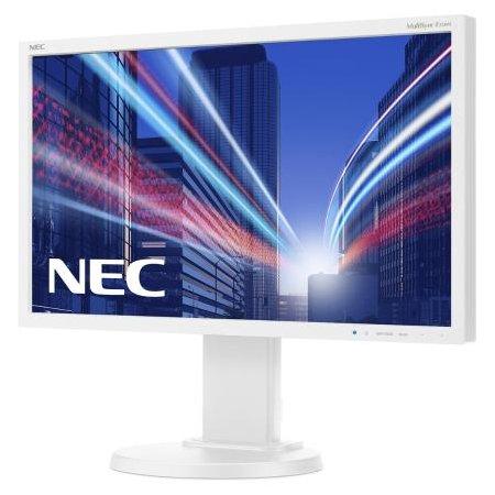 "NEC MultiSync E224Wi 21.5"", Белый, DVI, Full HD"