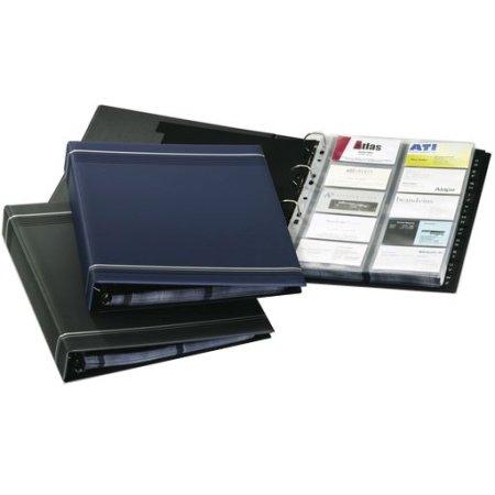 Визитница переносная Durable Visifix 2388-07 A4 57х90мм (400 визиток) вклад.:20шт. ПВХ темно-синий