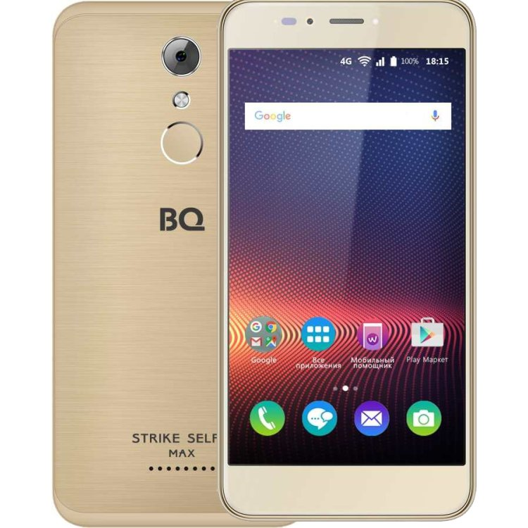 BQ 5504 Strike Selfie Max Gold Brushed 16Гб, Dual SIM, 4G LTE, 3G