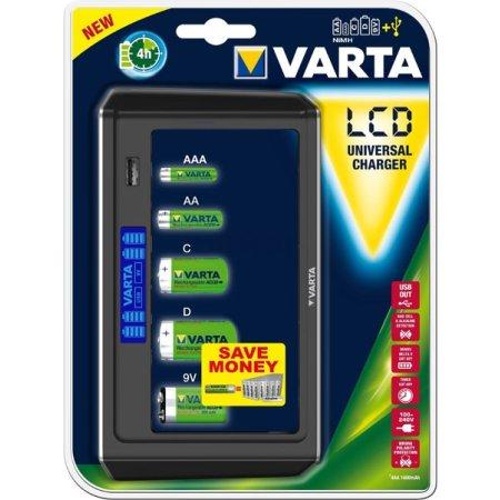 VARTA LCD Universal Charger LCD дисплей с синей LED подсветкой