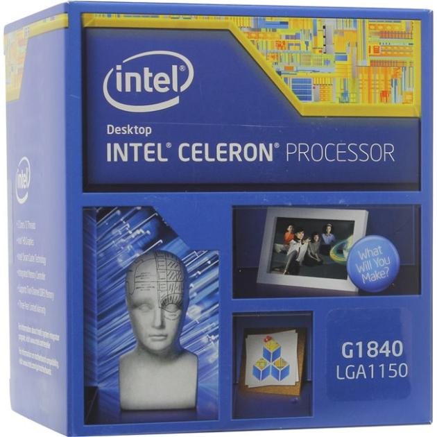 Intel Celeron G1840 Haswell 2 ядра, 2800МГц, Box