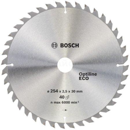 Пильный диск по дереву Bosch 2608641795 d=254мм d(посад.)=30мм (циркулярные пилы)